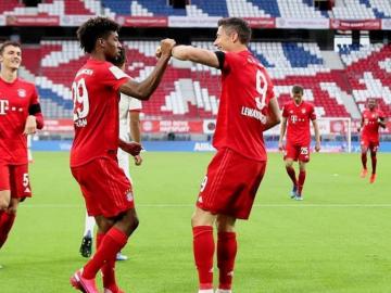 Müncheni Bayerni meestel on tänavu olnud korduvalt põhjust väravatantsu lüüa. Usutavasti jätkub see ka Dortmundi Borussia vastu. Foto autor: Müncheni Bayerni Instagrami konto