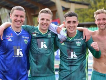 Tallinna FCI Levadia mängijatel on tänavu olnud põhjust rõõmustada. Foto: Levadia Instagrami konto