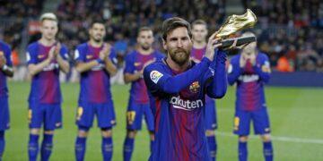 Lionel Messi järjekordse auhinnaga. Foto: fcbarcelona.com