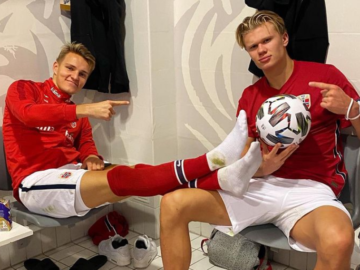 Martin Ödegaard (vasakul) ja Erling Braut Haaland. Foto: Haalandi Instagrami konto