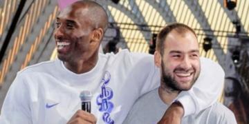 Paremal on mees, kellest pole Euroliigas keegi rohkem punkte visanud. Vasakul on varalahkunud Kobe Bryant. Foto: Vassilis Spanoulise Instagrami konto
