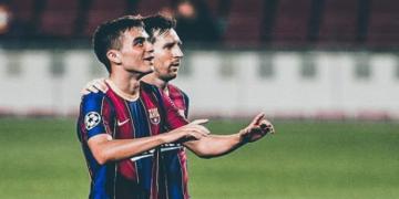 Pedri (vasakul) ja Lionel Messi. Foto: Instagram @pedrigonzalez
