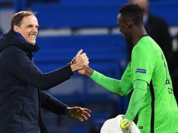 Peatreener Thomas Tuchel (vasakul) on suutnud lühikese ajaga sättida Chelsea taas õigele kursile. Paremal on Chelsea põhiväravavaht Edouard Mendy. Foto: Londoni Chelsea ametlik Facebook.